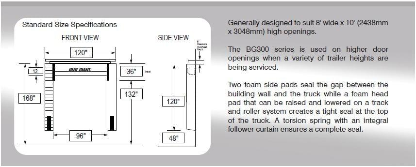 Brochure Download – Fixed Head Pad Loading Dock Seals – BG100FDS