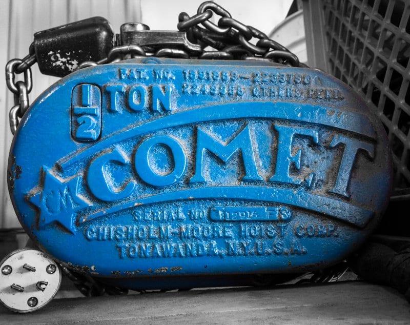 CM Comet 1-2 Ton Hoist 800 wide
